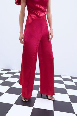 Zara Wijde satijnachtige broek in limited edition