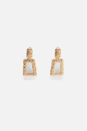 Zara Geometrische oorbellen met textuur