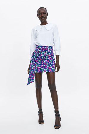 Zara Rok met strik en print