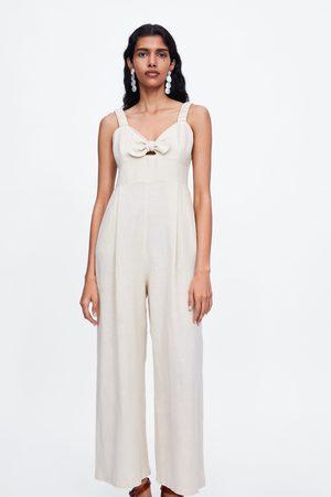 Zara Dames Jumpsuits - Jumpsuit met schouderbandjes en knoop
