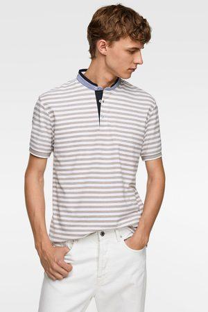 Zara Heren Poloshirts - Gestreepte combi-polo