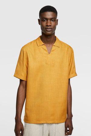 Zara Heren Overhemden - Blouse in polostijl