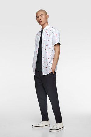 Zara Overhemd met kersenprint