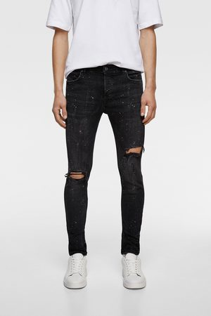 Zara Carrot dripping jeans