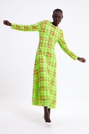 Zara Geruite jurk met lovertjes in limited edition