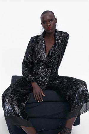 Zara Sequinned culottes