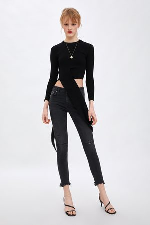 Zara Skinny compact jeans met lage taille