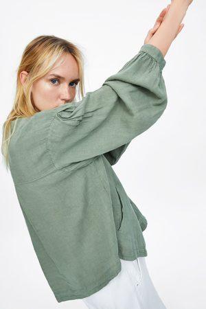 Zara Button-up linen jacket