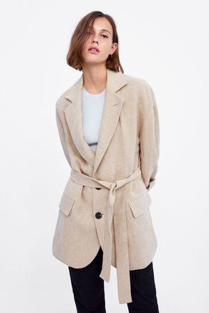 Zara Oversized jasje met ceintuur