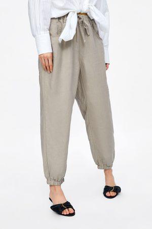 Zara Dames Pantalons - Linnen pijamabroek