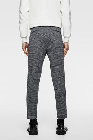 Zara Comfortabele geweven broek met ruitjes