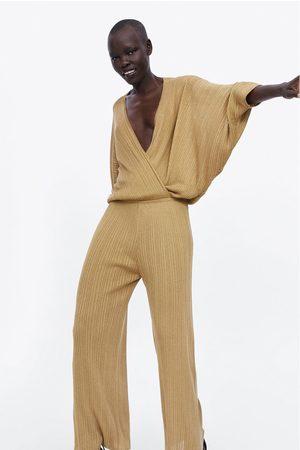 Zara Wijde tricot jumpsuit