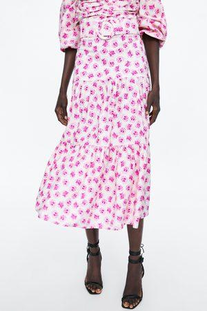Zara Dames Geprinte rokken - Rok met print en ceintuur