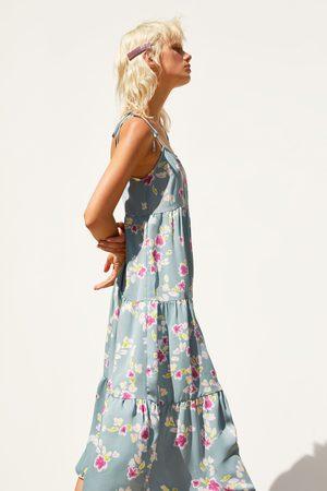 Zara Dames Geprinte jurken - Satijnachtige jurk met bloemenprint