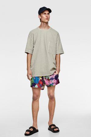 Zara Gestructureerd denim t-shirt