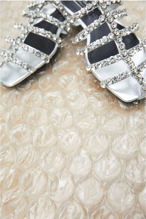 Zara Platte sandalen met siersteentjes