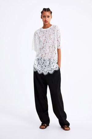 Zara Lange blouse met kant