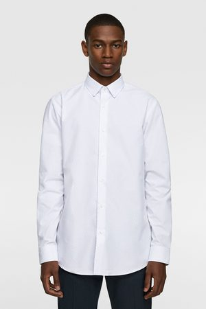 Zara Gestructureerd overhemd met stippen