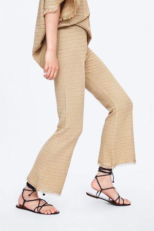 Zara Tricot broek met franjes