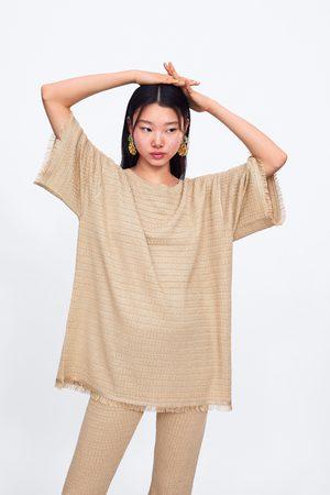 Zara Tricot shirt met franjes