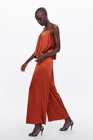 Zara Satijnachtige broek