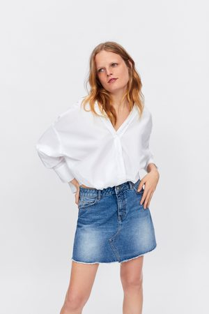 Zara Denim rok met gerafelde zoom