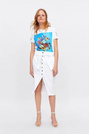 Zara Dames Spijkerrokken - Denim rok met knopen