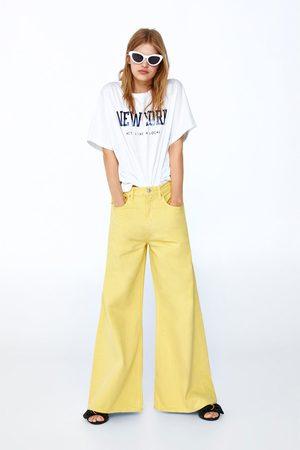 Zara T-shirt met tekst op het voorpand