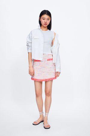 Zara Dames Korte & Mini rokken - Minirok met rafels