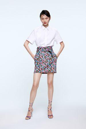 Zara Dames Geprinte rokken - Rok met bloemenprint
