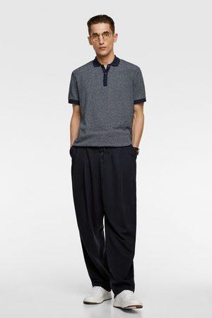 Zara Textured jacquard polo shirt