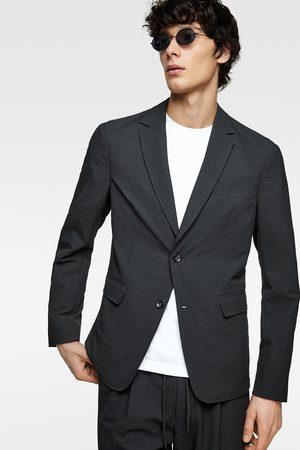 Zara Heren Blazers & Colberts - Seersucker blazer