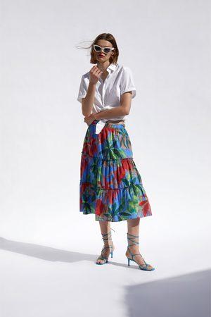 Zara Rok met tropische print