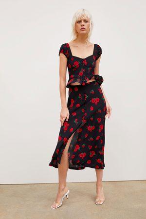 Zara Rok met rozenprint
