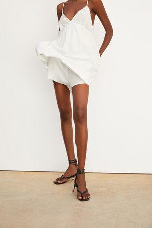 Zara Rustieke jumpsuit-jurk met borduursel