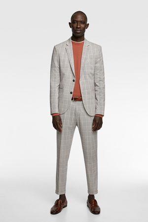 Zara Heren Pantalons - Geruite kostuumbroek
