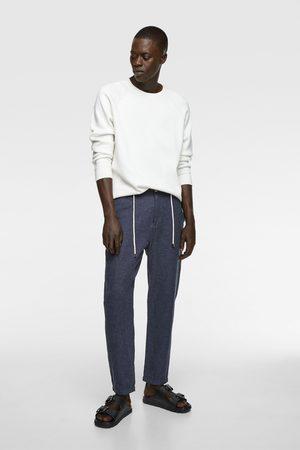 Zara Heren Pantalons - Rustieke broek met trekkoord