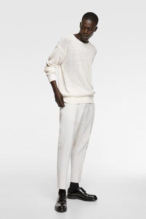 Zara Heren Pantalons - Rustieke kostuumbroek