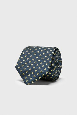 Zara Heren Stropdassen - Brede jacquard stropdas met geometrische motieven