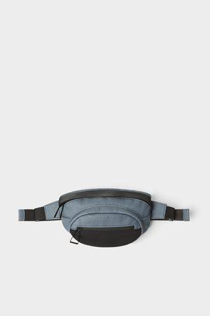 Zara Heren Tassen - Blauwe heuptas met netstof detail