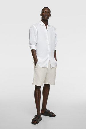 Zara Heren Overhemden - Soepelvallend rustiek overhemd