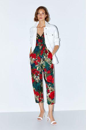 Zara Dames Jumpsuits - Jumpsuit met tropische print