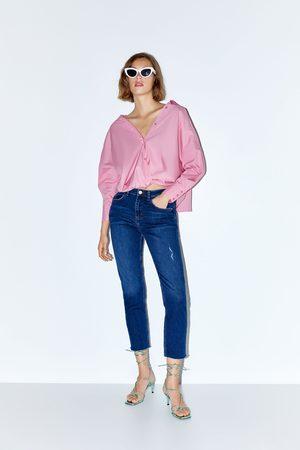 Zara Jeans z1975 met hoge taille en contrasterend stiksel