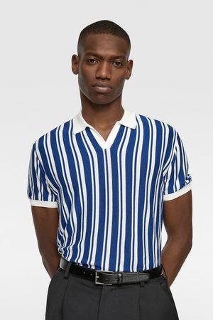 Zara Poloshirt met verticale strepen