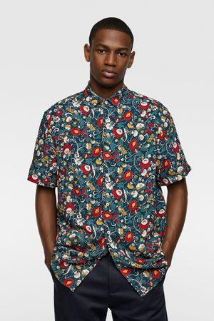 Zara Heren Overhemden - Blouse met bloemenprint