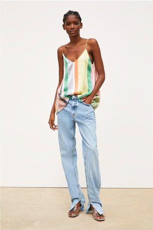 Zara Top met strepen in verschillende kleuren