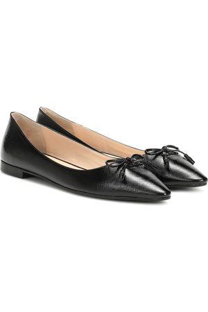 Prada Embossed leather ballet flats
