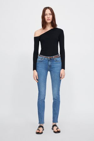 Zara Jeans z1975 met rechte pijp en ceintuur