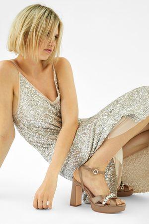 Zara Dames Sandalen - Sandalen met hoge hak en plateauzool