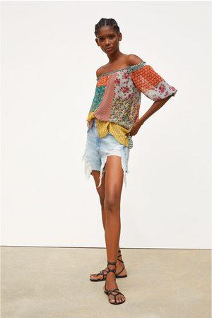 Zara Overhemd met patchworkprint